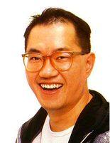 Smiling photo of Japanese manga author, Akira Toriyama. Creator of Dragon Ball.