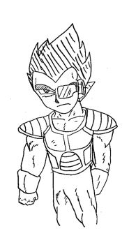 Crudely drawn Vegeta from Dragon Ball Z